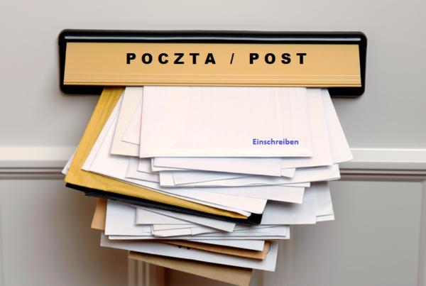 poczta post 600x403 - Przesyłka z Niemiec, czyli korespondencja w czasie koronawirusa (COVID-19)